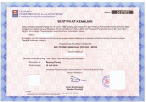 Sertifikat Badan Usaha (SBU)