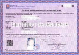 Surat Badan Usaha Jasa Konstruksi lengkap